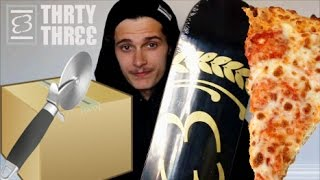 PIZZA CUTTER UNBOXING! ThrtyThree Skateboards