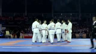 Relive top moments of quest for bronze in Male Kumite Team competition of Karate World Championships