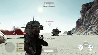 Heavy solo take down of Tie Fighter on Crait - funny crash -  STAR WARS™ Battlefront™ II