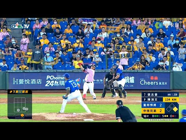 【職棒31精彩好球】08/01 中信兄弟連續兩天再見安打,張志豪10局下一棒終結比賽。
