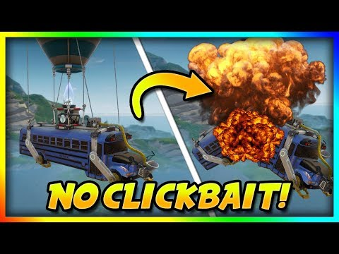 How To Destroy The Battle Bus In Fortnite: Battle Royale (in Air)