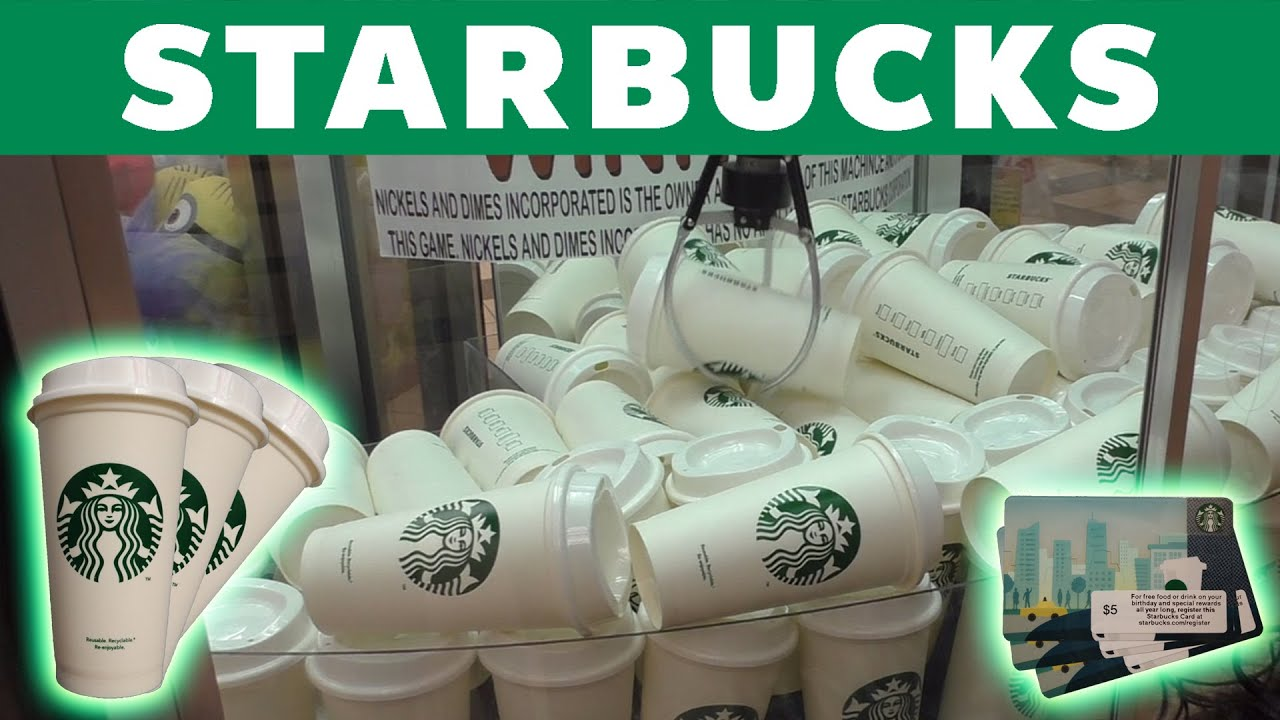 Three starbucks gift card wins from the claw machine youtube negle Choice Image