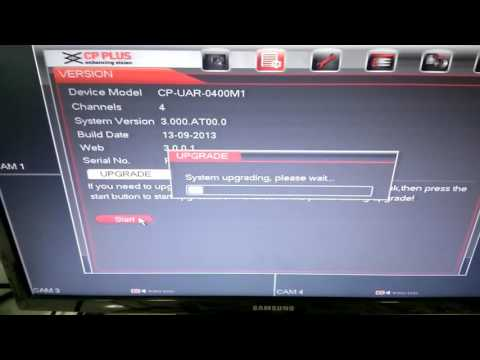 how to upgrade firware cpplus dvr and show option instaon