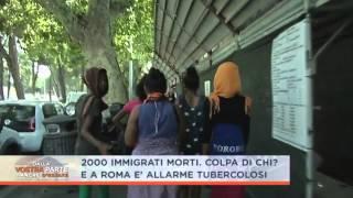 EMERGENZA CLANDESTINI A ROMA  ALLARME MALATTIE E STRUTTURE AL COLLASSO