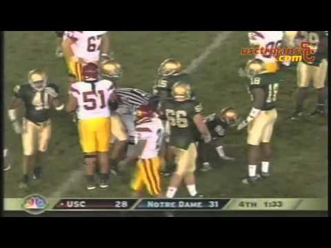 Pat Haden on 2005 USC-ND game