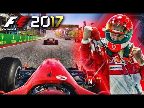F1 2017 Gameplay: Michael Schumacher's 2004 Ferrari (Preview)