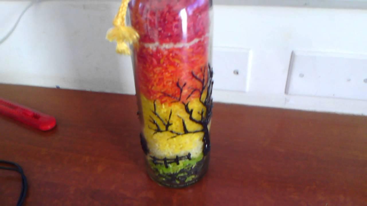 Botellas decoradas youtube - Botellas de vino decoradas ...
