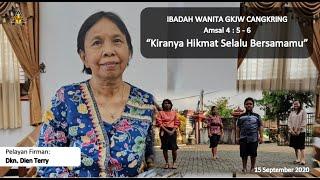 Hikmat Tuhan Bersamamu - Ibadah Wanita 15 September 2020 || GKJW Cangkring