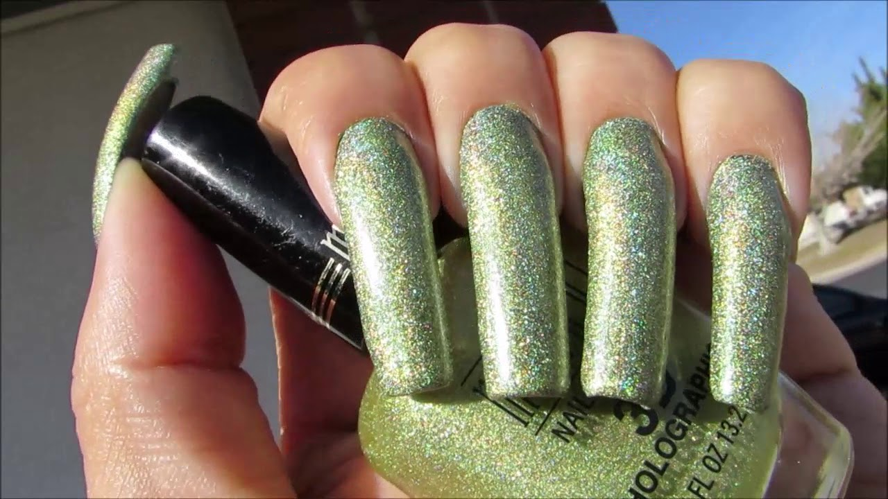 Holographic & Iridescent Nail Polish Color Swatching - YouTube