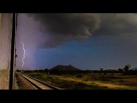Sunset, Lightning & Heavy Rain - Jan Shatabdi Debut, Indian Railways