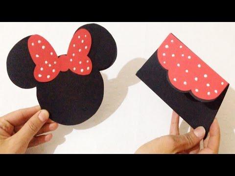 Convite De Aniversário Da Minnie Passo A Passo - Artesanato DIY