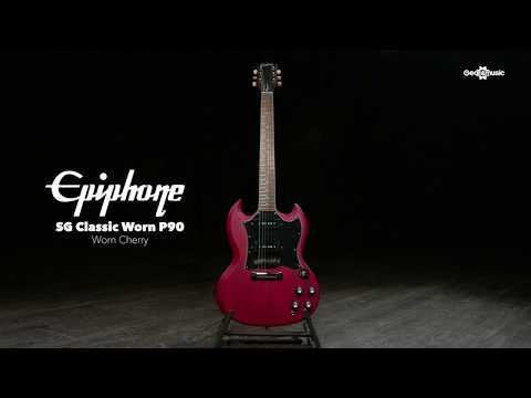 Epiphone SG Classic Worn P90, Worn Cherry | Gear4music Demo
