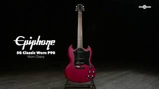 Epiphone SG Classic Worn P90, Worn Cherry   Gear4music demo