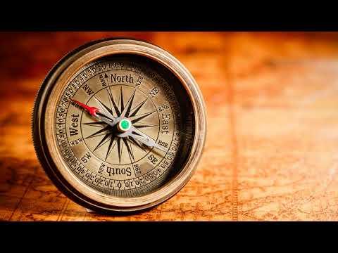 Куда показывает красная стрелка компаса при определении сторон горизонта?