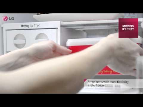 LG Хладилник с горна камера - Подвижна ледарка