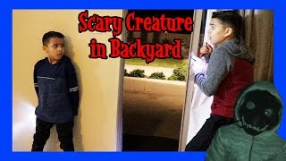 SCARY CREATURE IN BACKYARD PT.1 | JURRASIC WORLD TOYS  | D&D SQUAD