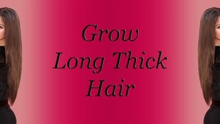 Grow Long Thick Hair Fast With Subliminal Stimuli