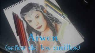 Speed Drawing - Arwen ( señor de los anillos)