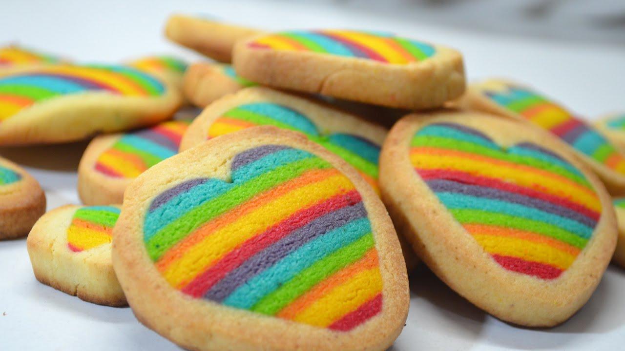 Como hacer galletas de arcoiris youtube - Como hacer colores ...