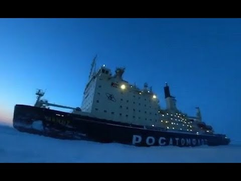 Camper wakes up to Russian icebreaker outside his tent