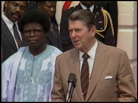 President Reagan Meeting with Chairman Doe of Liberia on August 17, 1982