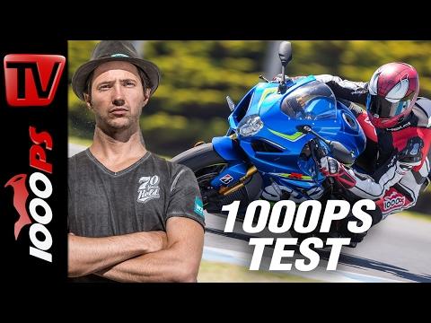 1000PS Test - Suzuki GSX-R 1000 R 2017 | Review English Subs