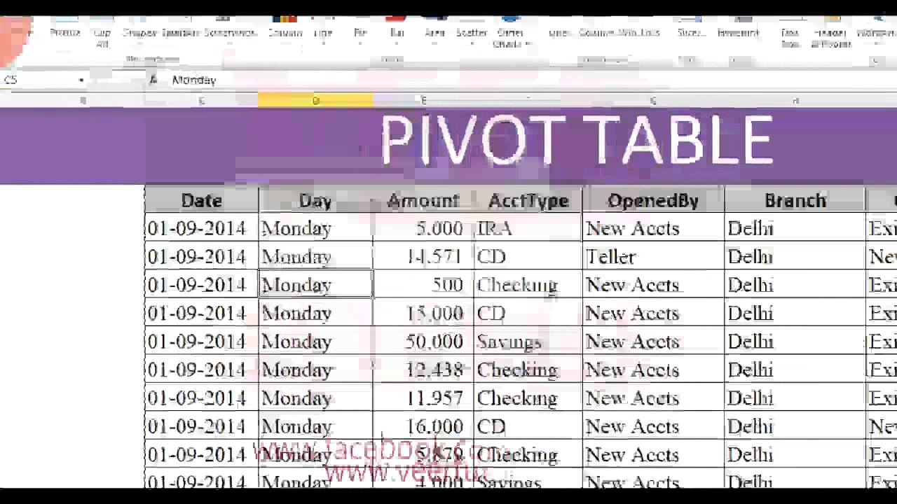 Excel in Hindi - Pivot Table in Excel 2010