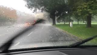 Hagel, regn och åska över Skåne den 17 september