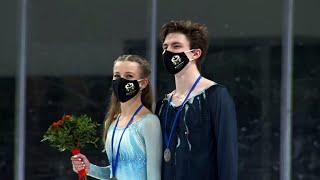Церемония награждения Танцы на льду Любляна Гран при по фигурному катанию среди юниоров 2021 22