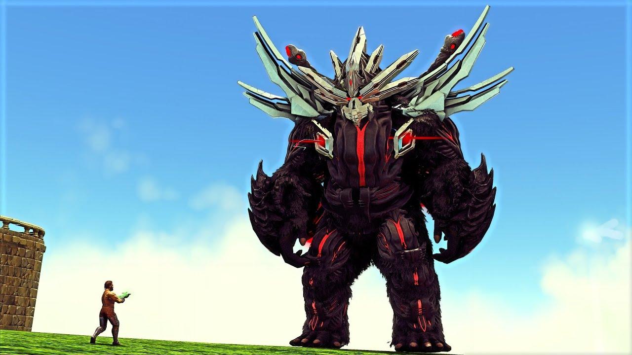 Desafiei e Domei o MAIS PODEROSO Ninja King Kong Boss! (1 VIDA)(Dinossauro) Ark Survival Evolved