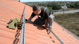 Солнечные панели. Зеленый тариф. Часть 1. Установка крепления электрических солнечных панелей(, 2015-10-03T19:26:15.000Z)