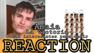 Amaia - Cosas interesantes para decir / La victoria (REACTION IN SPANISH) | Alraco43