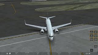 B-737 take off