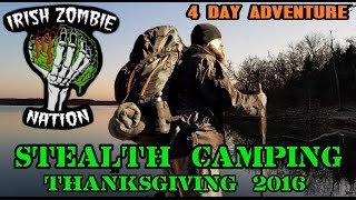 4 Day Stealth Camping Thanksgiving Adventure - Backpacking at Clinton Lake in Kansas