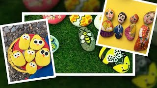 Rock painting tutorial for beginners. DIY Stone Art Crafts