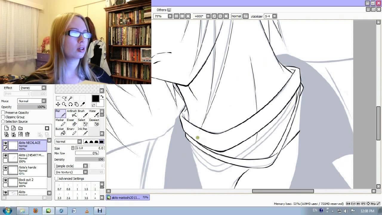 Line Art Anime : Easy paint tool sai satoshi and akito anime lineart youtube