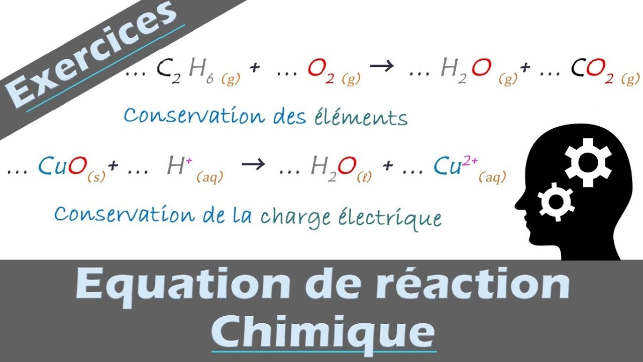 Exercice Equilibrer Une Equation De Reaction Chimique Physique Chimie Lycee Youtube