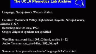 Navajo audio: nav_word-list_1993_06