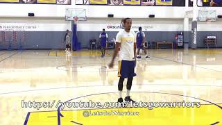 View from Golden State Warriors practice, day before season opener vs Houston Rockets