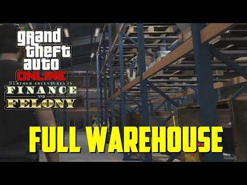 GTA 5 DLC  - FULL LARGE WAREHOUSE, SPECIAL ITEM + 2.2MIL CARGO JOB! (GTA 5 Online Finance & Felony)