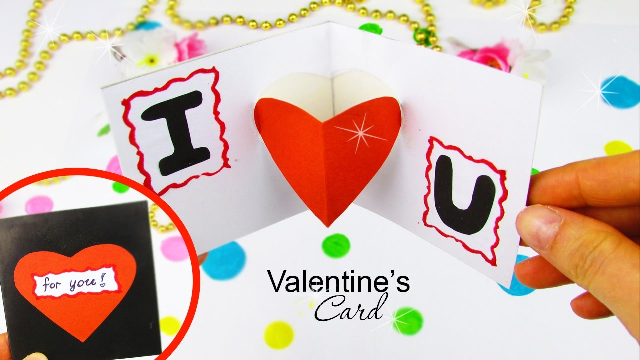 Diy Pop Up Card In A 5 Min For Valentine S Day Heart Tutorial