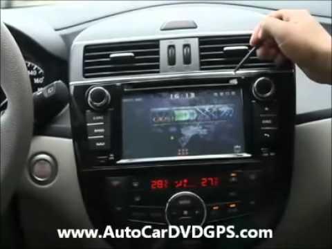 Nissan Tiida 2012 2013 Dvd Gps Aftermarket Stereo