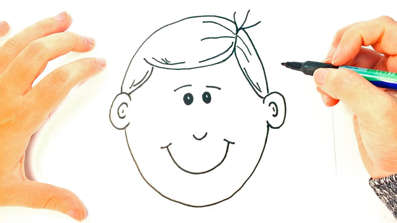 How to draw a boy for kids boy face easy draw tutorial