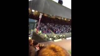 Aberdeen fans at Dens Park - Sing song