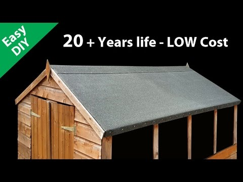 How to felt a shed roof fit long life roofing felt youtube for How to shingle a shed