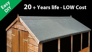 How to Felt a Shed Roof - Fit long life Roofing Felt