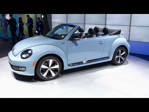 volkswagen beetle convertible  la auto show youtube