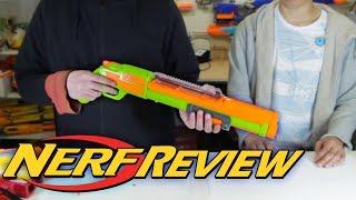 NERF SHOTGUN with Tube Magazine | Buzz Bee Review - Monorail/Rail Raider