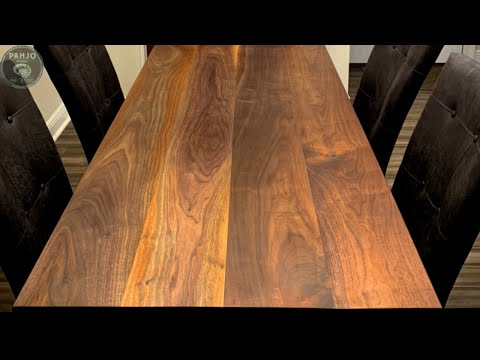 DIY Rustic Walnut Dining Table (Step-By-Step)