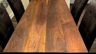 DIY Walnut Dining Table // Rubio Monocoat Finish